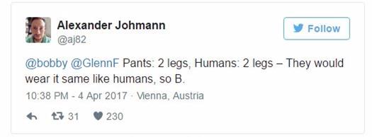 Cả thế giới lại điên đầu vì một câu hỏi tưởng như đơn giản: Một chiếc quần mặc quần sẽ như thế nào? - Ảnh 3.