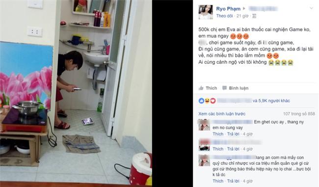 Hài hước chồng nghiện game đem cả điện thoại vào toilet, vợ chụp ảnh bêu lên mạng xã hội  - Ảnh 1.