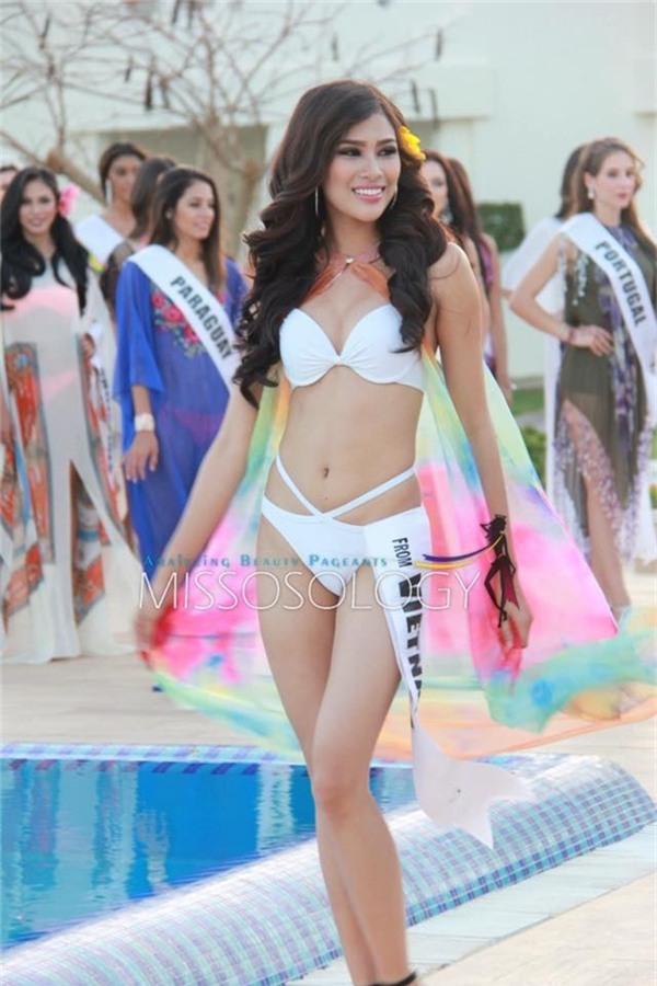 Ngắm trang phục dân tộc độc đáo của Nguyễn Thị Thành tại Miss Eco 2017