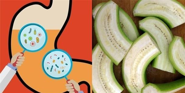 Chuối xanh giúp hệ tiêu hóa của bạn khỏe mạnh