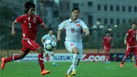 Thắng Myanmar 2-0, Nữ Việt Nam giành vé dự Asian Cup 2018