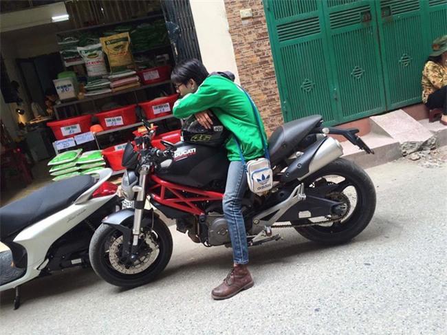 Truy tìm anh chàng đem quái thú Ducati gần 300 triệu chạy... xe ôm - Ảnh 3.