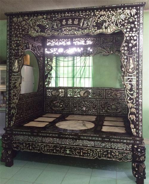 giường cổ giá bạc tỷ, giường ngủ cổ Đồng Tháp, giường ngủ cổ, Công tử Bạc Liêu, giường Công tử Bạc Liêu