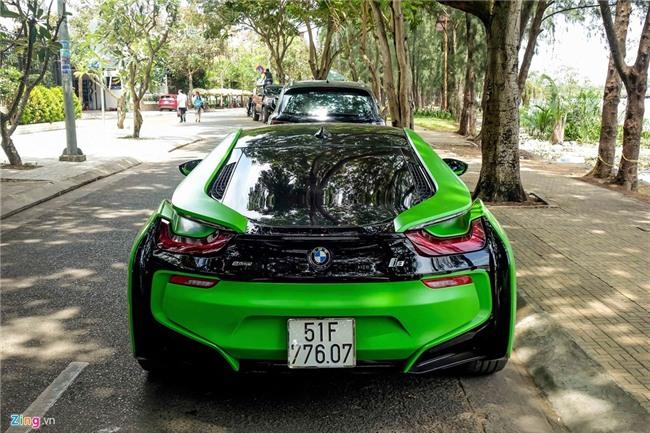 BMW i8 mau xanh xuat hien o Sai Gon hinh anh 3