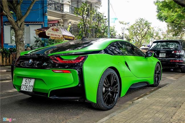 BMW i8 mau xanh xuat hien o Sai Gon hinh anh 4