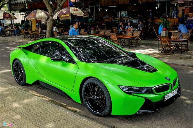BMW i8 mau xanh xuat hien o Sai Gon hinh anh 6