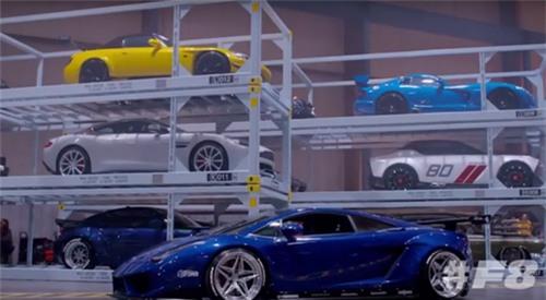 Nhà kho chứa hàng loạt những tên tuổi hạng A, như Lamborghini, Bentley, McLaren, Maserati Jaguar, Mercedes-Benz… trong Fast and Furious 8