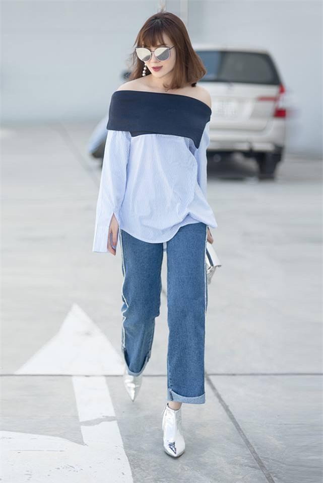 Cứ đến hè là sao Việt lại thích khoe trọn vai trần trong những thiết kế trễ vai mong manh - Ảnh 16.