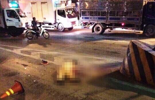 Bị tài xế xe tải tông trực diện, Thiếu tá Minh tử vong tại chỗ ngay trạm thu phí cầu Đồng Nai. Ảnh FB.