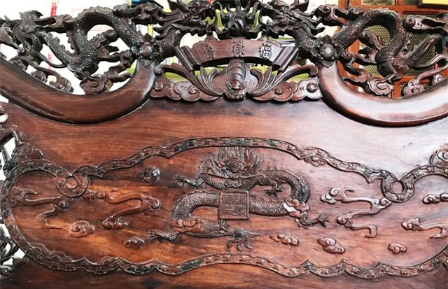 đồ gỗ, đại gia, Long lân quy phụng, Sài Gòn, bộ bàn ghế, tứ Linh