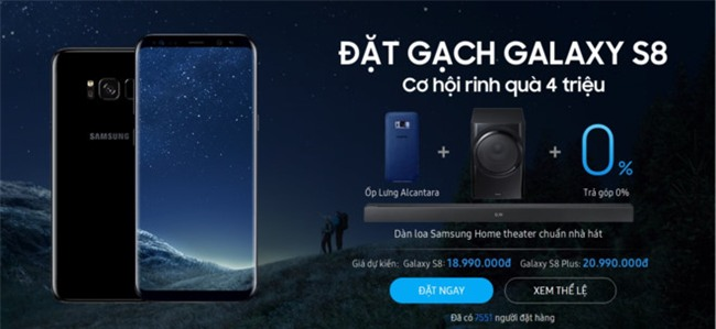 Galaxy S8, S8+ lap ky luc dat hang tai VN du chua co gia ban hinh anh 4