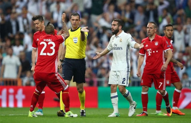 Real Madrid, Bayern Munich, trọng tài, Champions League, Ronaldo
