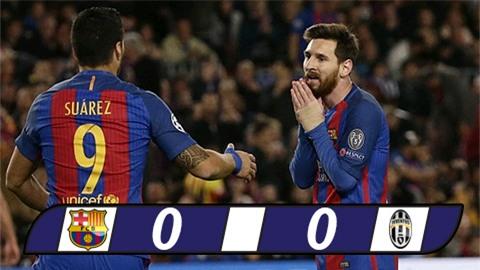 MSN bất lực, Barca dừng chân tại tứ kết