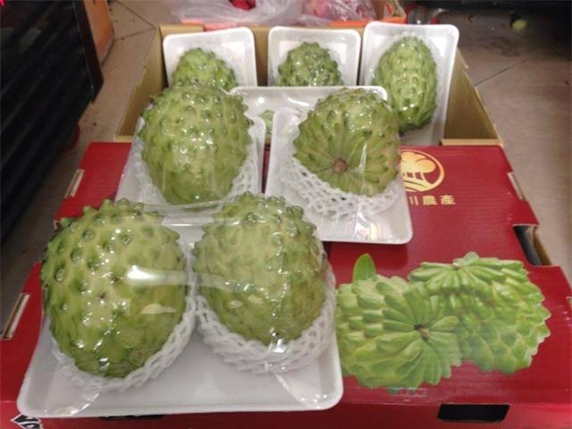 Na Đài Loan có trọng lượng lớn, trung bình từ 6 - 8g/quả gấp nhiều lần so với na trong nước. (Ảnh: NVCC)
