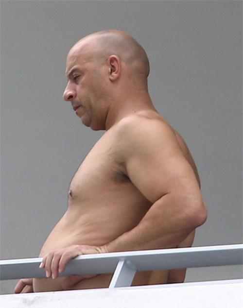 Có lẽ được nghỉ ngơinênVin Diesel đã không chú ý đến cân nặng của mình.