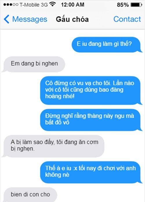 """""""cuoi bo"""" voi loat tin nhan khong dau khien nhung doi yeu nhau """"tan dan xe nghe"""" - 1"""