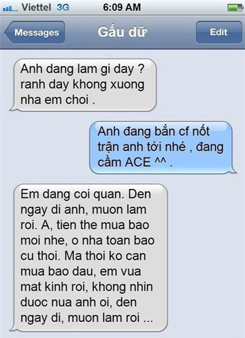"""""""cuoi bo"""" voi loat tin nhan khong dau khien nhung doi yeu nhau """"tan dan xe nghe"""" - 2"""