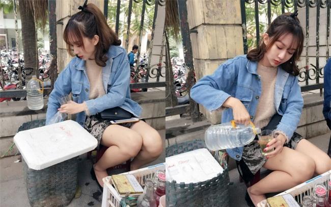 Cô gái xinh đẹp bán trà đá trước cổng trường ĐH lại gây sốt khi công khai chuyện đập mặt đi sửa lại và nâng ngực - Ảnh 1.