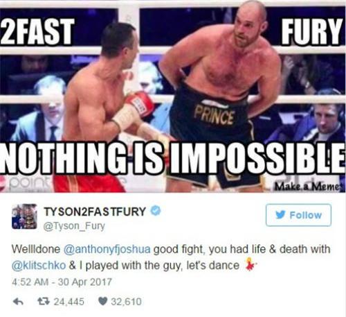 """Đấm gục """"Búa thép"""" Klitschko, Joshua đòi """"tẩn"""" Tyson Fury - 2"""
