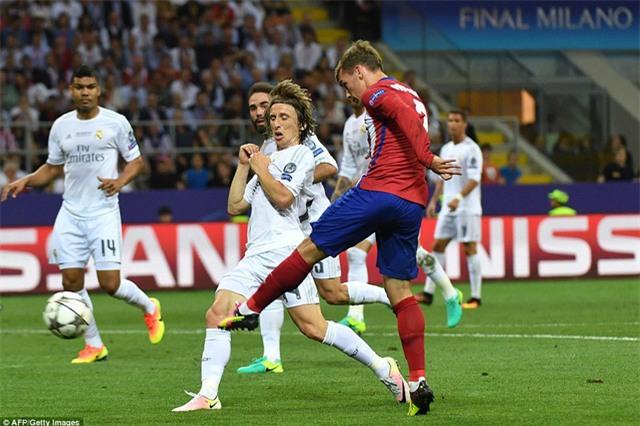 Griezmann khao khát tỏa sáng bởi ở trận chung kết Champions League 2016, anh đã đá hỏng một quả phạt đền