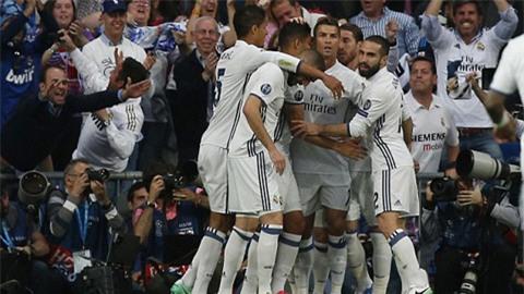 Niềm vui của các cầu thủ Real