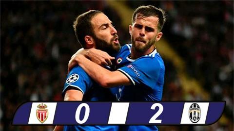 Higuain lập cú đúp, Juventus ném Monaco trở lại mặt đất