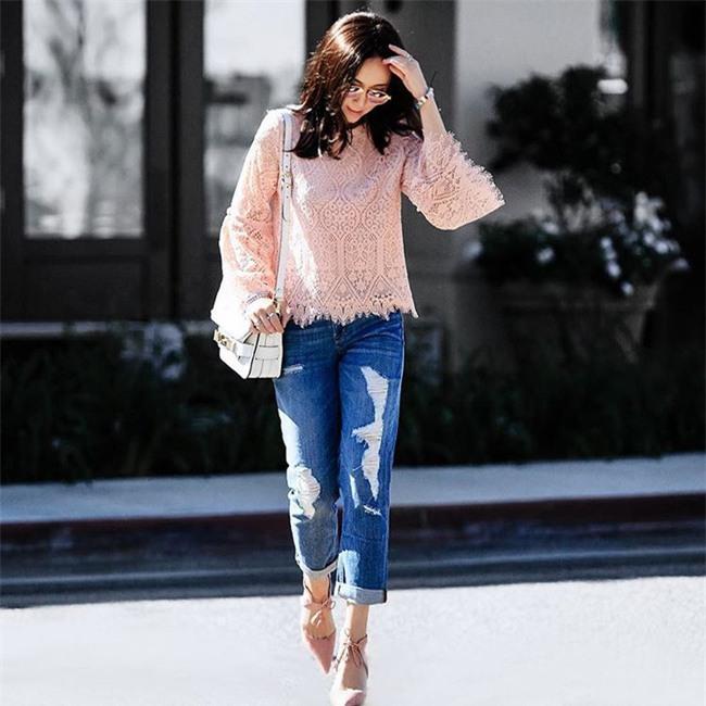 Có bao giờ bạn nghĩ quần jeans với giày cao gót lại hợp gu thế này? - Ảnh 17.