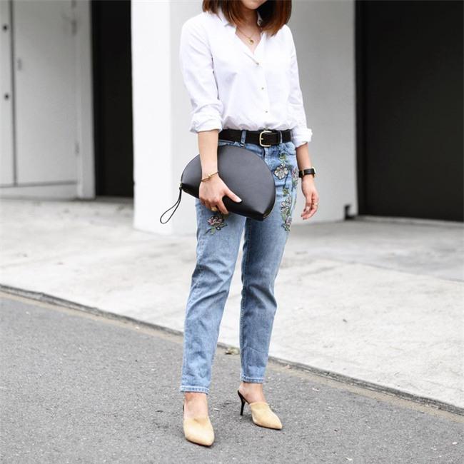 Có bao giờ bạn nghĩ quần jeans với giày cao gót lại hợp gu thế này? - Ảnh 18.