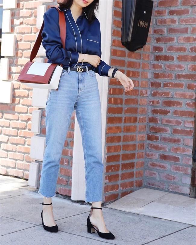 Có bao giờ bạn nghĩ quần jeans với giày cao gót lại hợp gu thế này? - Ảnh 20.