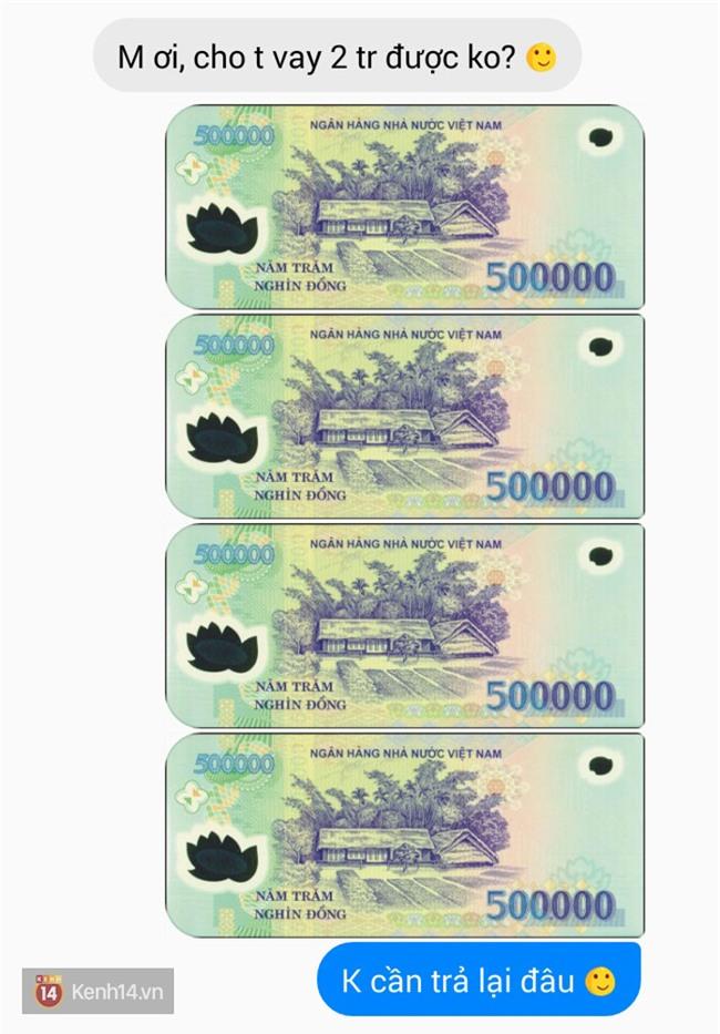 Bạn thử nhắn tin hỏi vay bạn thân của bạn 2 triệu đi xem chúng nó trả lời thế nào - Ảnh 3.