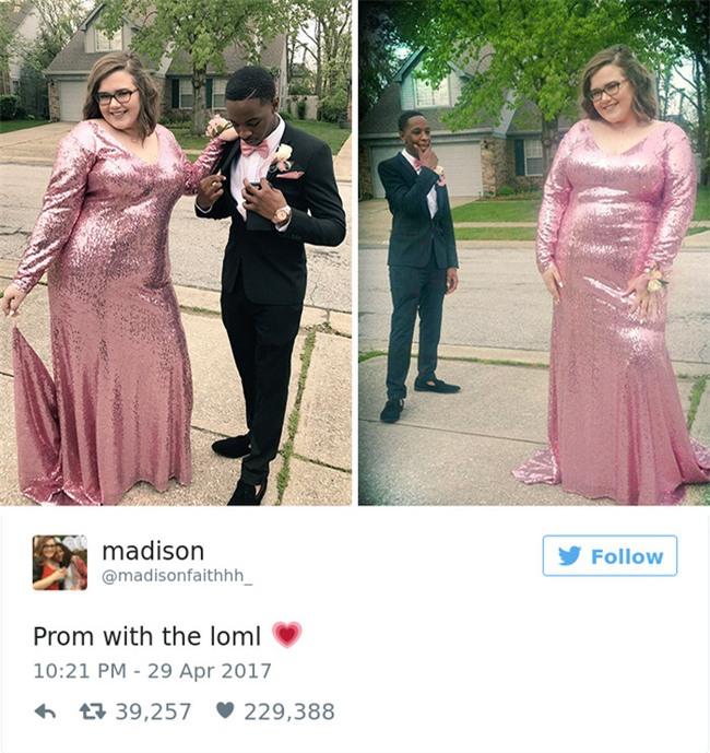 Bạn gái bị chê béo trong chiếc váy dạ tiệc, chàng trai liền lên tiếng khiến những kẻ vô duyên đứng hình - Ảnh 1.