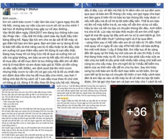 Những thông tin chia sẻ với lời nhắn cần cộng đồng chung tay tẩy chay Gara ô tô Mạnh Sơn để họ không lừa đảo được nữa của anh Lê Cường đã thu hút sự quan tâm đặc biệt của cộng đồng mạng.