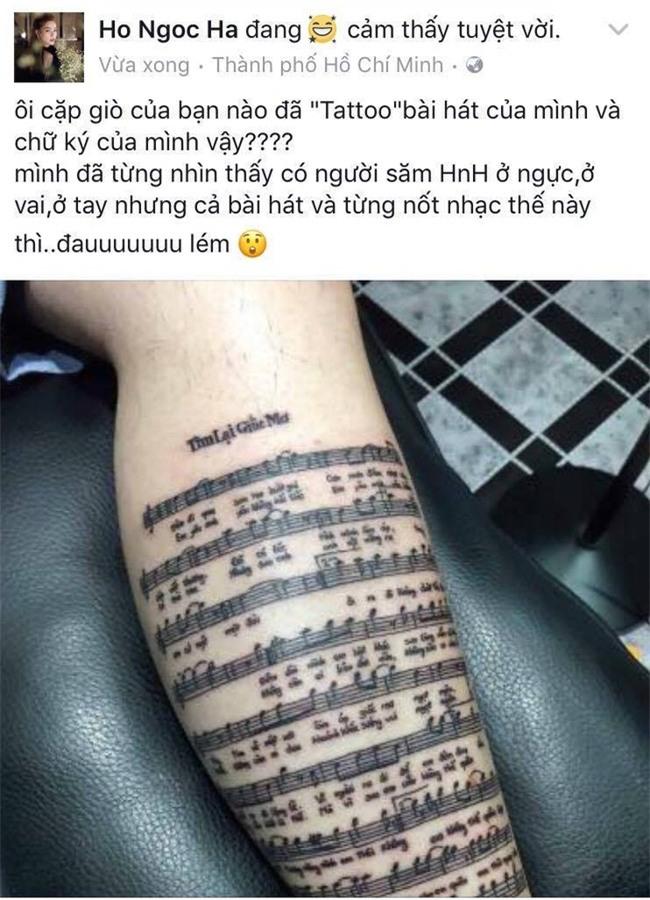 Hồ Ngọc Hà choáng với fan cuồng xăm cả lời bài hát và chữ kí của mình lên chân - Ảnh 1.