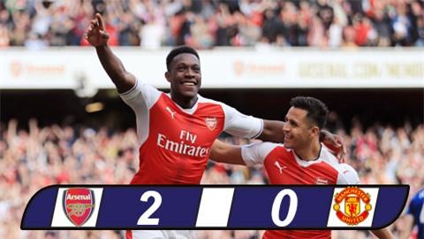 Arsenal chấm dứt chuỗi 25 trận bất bại của M.U