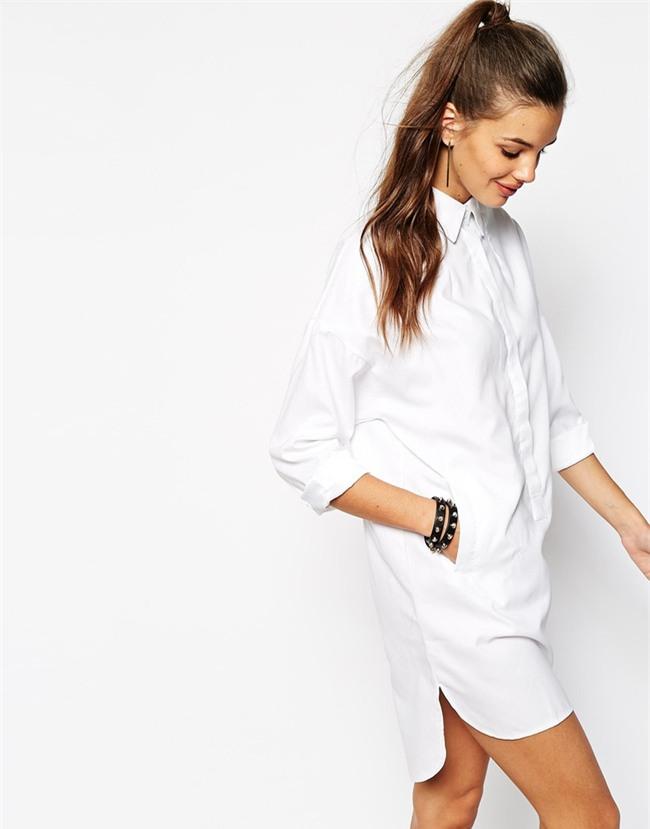 5 kiểu biến tấu giúp áo sơmi trắng chẳng còn vô vị và nhàm chán nữa - Ảnh 2.