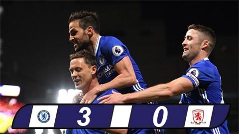 Đại thắng Middlesbrough, Chelsea tiến sát ngai vàng Ngoại hạng Anh