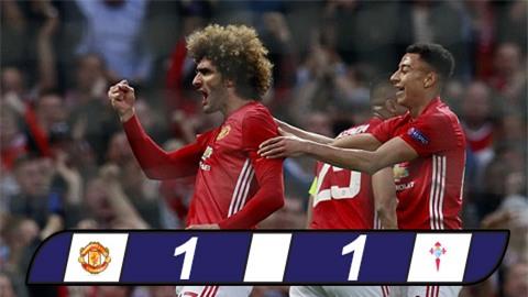 Fellaini lập công đưa M.U vào chung kết Europa League (chung cuộc 2-1)