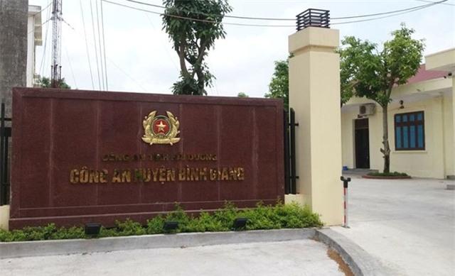 Đại uý Lê Xuân Thành, cán bộ Đội CSGT Công an huyện Bình Giang bị đình chỉ công tác để điều tra liên quan vụ tai nạn tối 4/5. Ảnh: Đ.Tuỳ