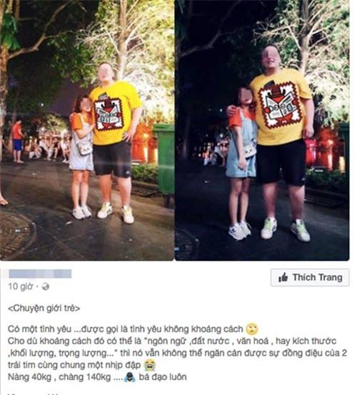 "chuyen ""tinh yeu khong khoang cach cua nang 40kg, chang 140kg"" va su that nga ngua - 1"