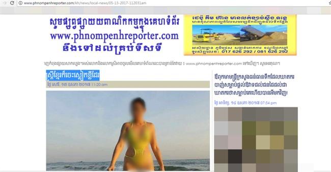 Truy tìm nguồn gốc bức ảnh người phụ nữ mặc bikini hở hang gây sốc trên bãi biển - Ảnh 4.