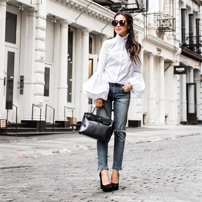 Chẳng ai bảo ai nhưng các quý cô châu Á diện cực nhiều đồ trắng cho street style tuần qua - Ảnh 9.
