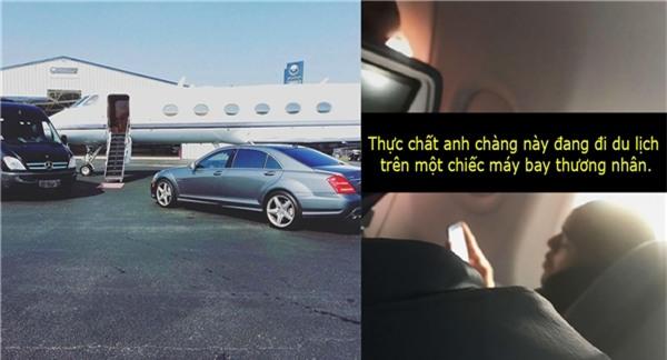 Đăng tải một tấm ảnh để khoe chiếc phi cơ riêng của mình, nhưng chàng trai này đâu biết được anh đã bị bắt quả tang khi đang đi trên một chiếc máy bay thường khác! Tấm ảnh đã khởi nguồn cho ý tưởng#bowwowchallenge.