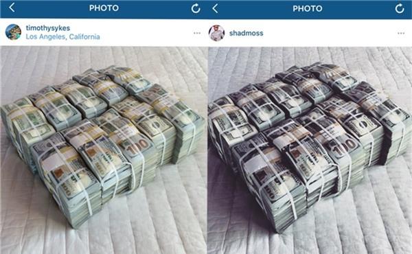 Tiền anh, tiền em hay tiền của đôi ta? Dù tiền của ai thì tấm hình này cũng được cả trăm người đăng tải rồi!