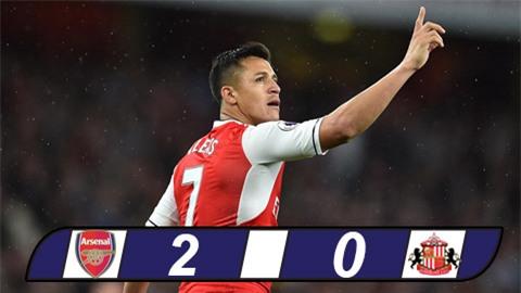 Sanchez lại tỏa sáng, Arsenal tiếp tục nuôi hy vọng top 4