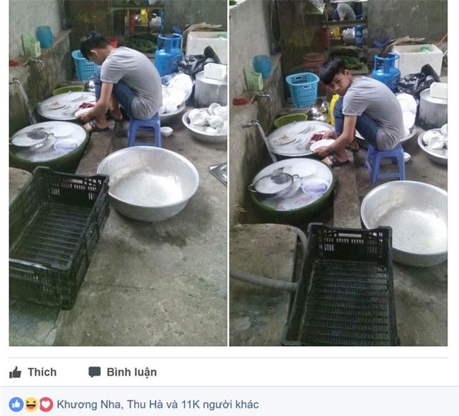 Đi ăn cỗ, chàng trai một mình rửa 6 mâm bát đĩa vì bạn gái đau tay - Ảnh 1.