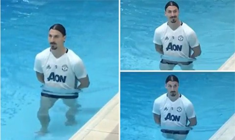 Ibrahimovic đang tập hồi phục