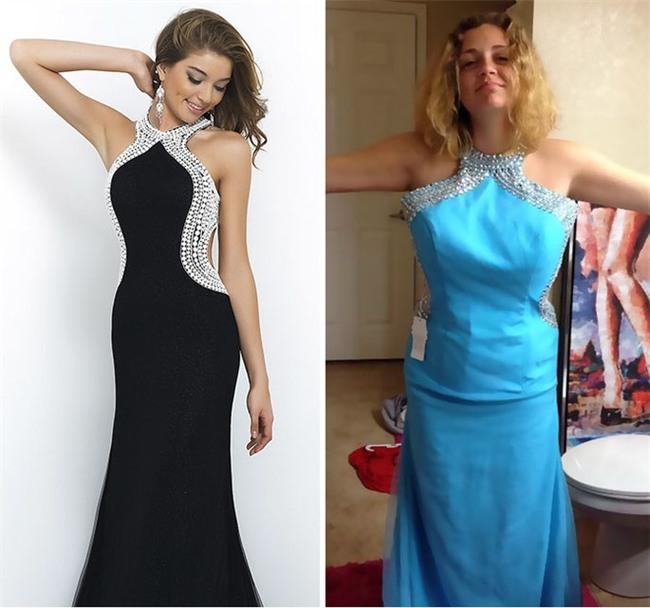 Những bộ váy prom thảm họa mua online biến công chúa thành phù thủy trong chớp mắt - Ảnh 1.