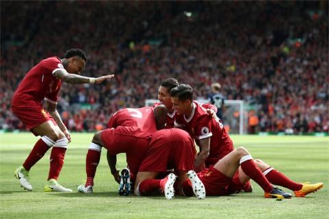 Niềm vui của các cầu thủ Liverpool