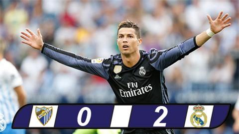 Hạ gục Malaga, Real Madrid lên ngôi vô địch La Liga