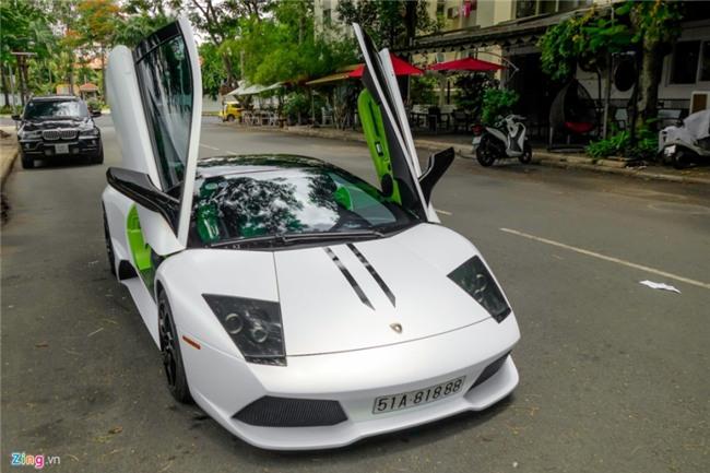 Lamborghini Murcielago LP640 xanh com doc nhat VN doi mau hinh anh 11